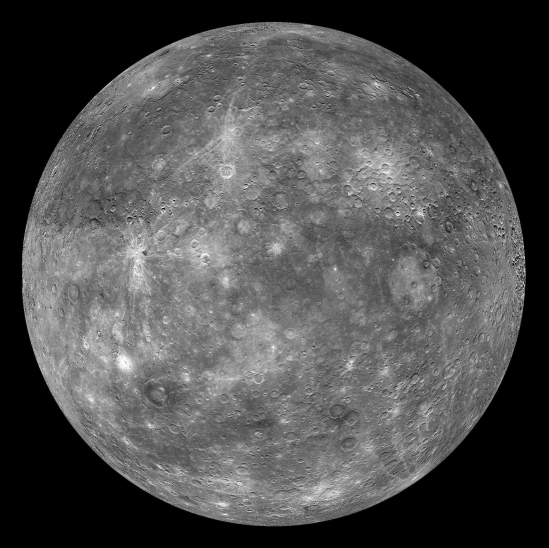 Mercury, as taken from the spacecraft MESSENGER.