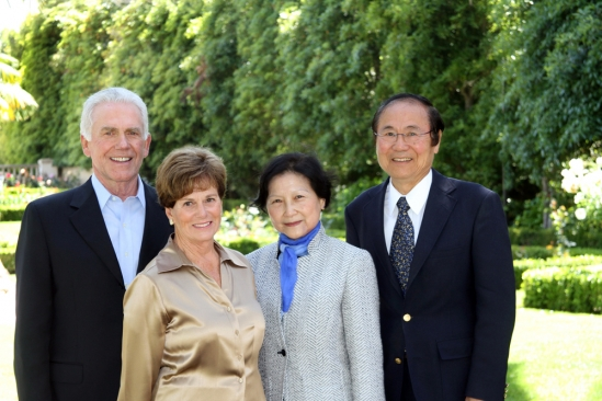 Jeff and Judy Henley with Chancellor Henry T. Yang and wife Dilling