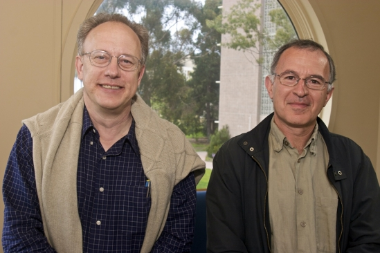 Professors Joel Rothman (left) and Boris Shraiman