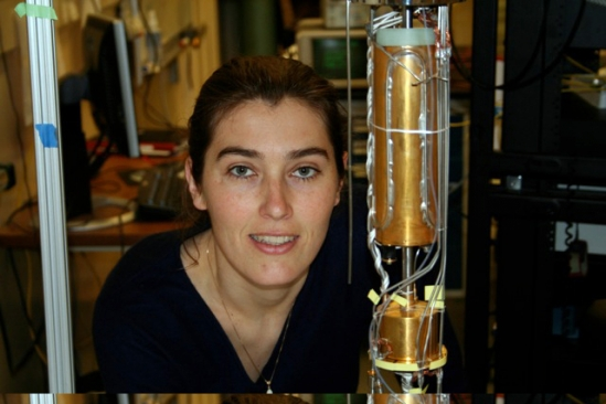Assitant Professor of Physics Ania Blezynski Jayich, recipient of the Presidential Early Career Award for Scientists and Engineers