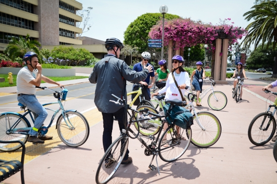 A bicycle tour of the UCSB campus was one of the highlights on Monday.