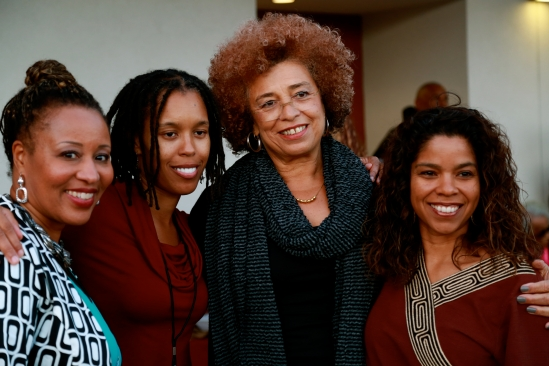 (from left) Kim Bluitt, Ingrid Banks, Angela Davis and Gaye Johnson.