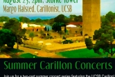 summer carillon concerts at Storke Plaza