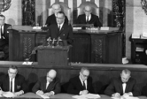 LBJ Giving State of the Union Address Jan. 1964