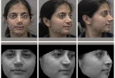 photo of computer tracking facial features