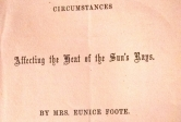 The front cover of Eunice Foote's 1856 paper on global warming