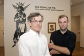 Robert Williams (left) and art history student Ryan Kelley