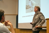 Cris Sandoval, director of UCSB's Coal Oil Point Reserve, talks about her efforts to protect the snowy plover.