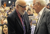 The winners of the 2013 Nobel Prize in Physics, Francois Englert, left, and Peter Higgs.