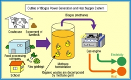 a diagram for biomethane generation