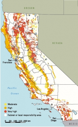 fire hazard severity zone map