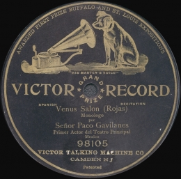 Paco Gavilanes recording by Victor Talking Machine Company