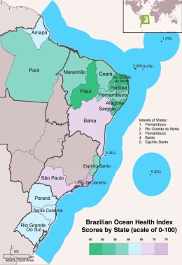 OHI map of Brazil
