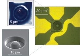 images of diamond sample with hemispherical lens