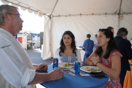 UNR Chef Xavier Leveau with UCSB students