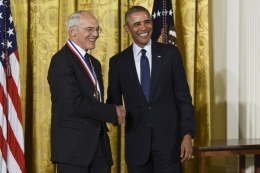 Arthur Gossard receives the National Medal of Technology and Innovation