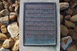 Plaque at UCSB's Eternal Flame
