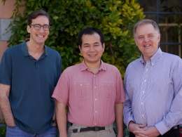 UCSB and KITP scholars, from left, Omer Blaes, Yan-Fei Jiang and Lars Bildsten Photo Credit: CRAIG KUNIMOTO