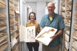 Katja Seltmann and Greg Wahlert of UCSB's Cheadle Center for Biodiversity & Ecological Restoration