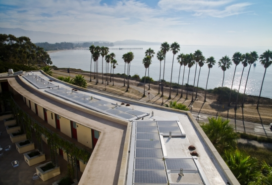 Bren Hall's solar panels
