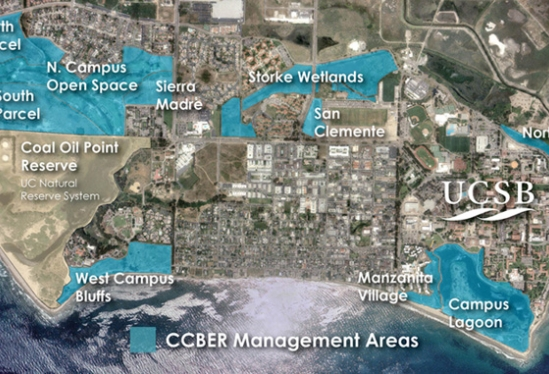 map of CCBER restoration areas