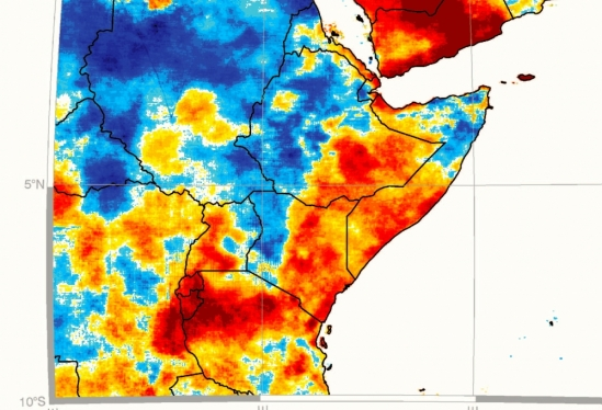 East Africa rainfall map
