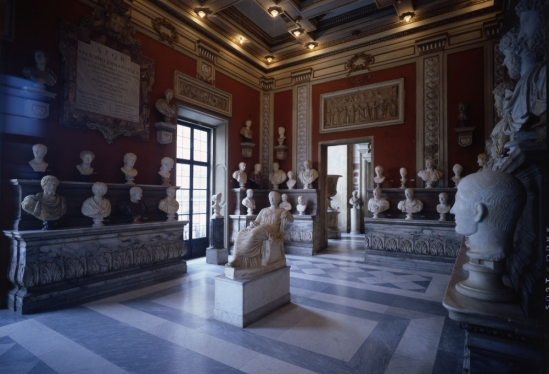 View of the Room of the Emperors, Capitoline Museum, Rome