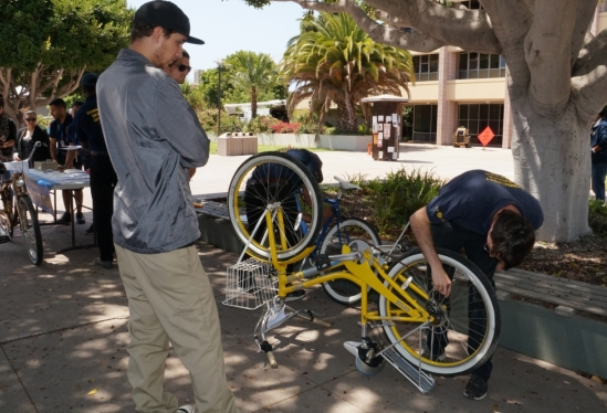 photo of bike inspection