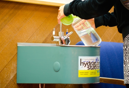 UCSB Library hydration stations