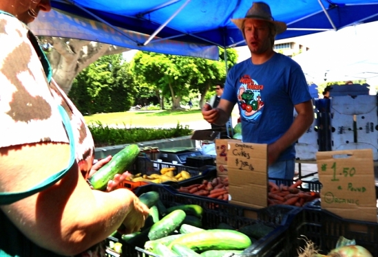 UCSB Farmer's Market transaction