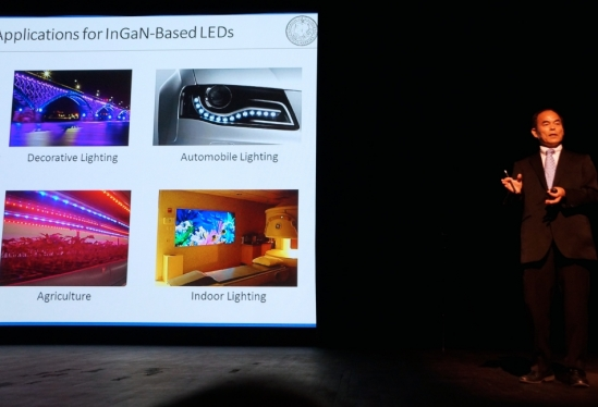 Shuji Nakamura and the uses for InGan-based LED lights