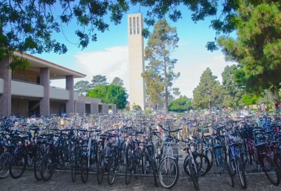 Bikes outside UCSB Music Building