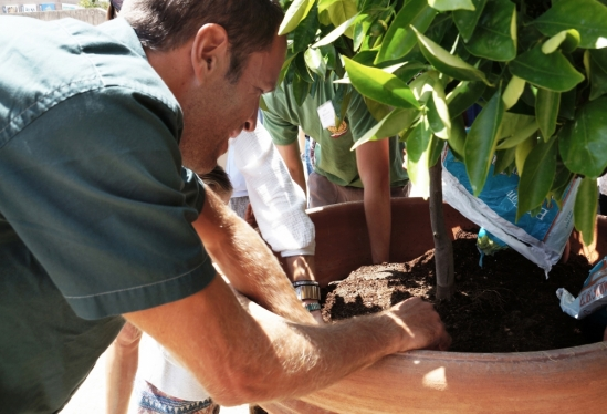 Jack Johnson planting at UCSB