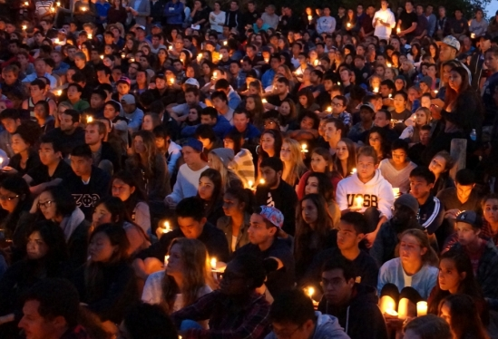 UCSB candelight vigil May 2014