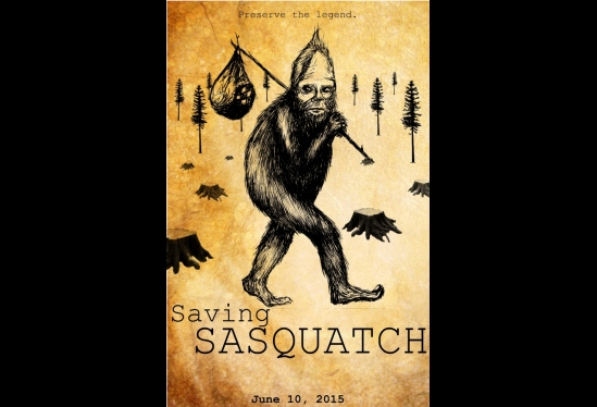 """Saving Sasquatch"" film poster"