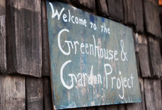 UCSB Greenhouse & Garden Project sign