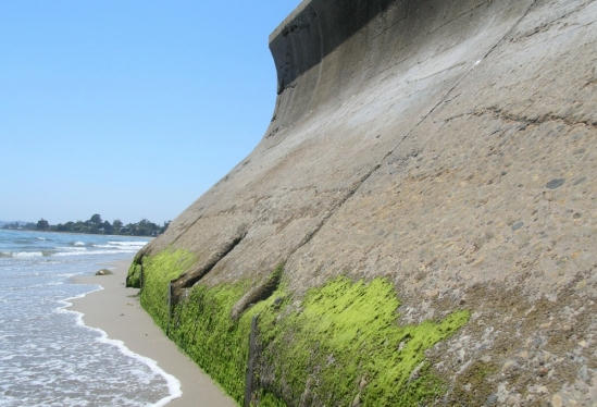 Seawall in Summerland, CA