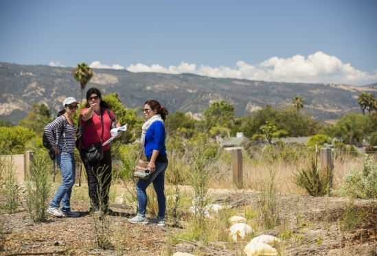 UCSB water quality researchers at North Campus Open Space