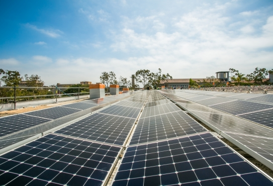 Solar array installation at UCSB