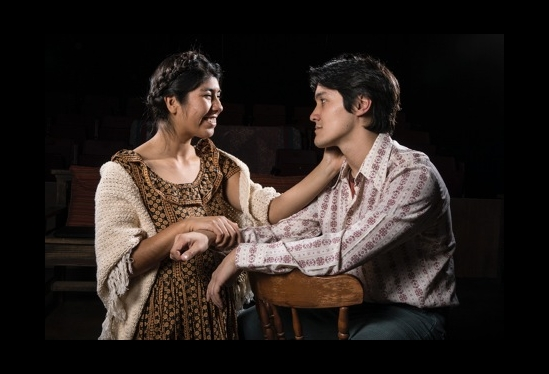 "Verenice Zuniga and Oliver Rubey in UCSB production of ""Lydia"""