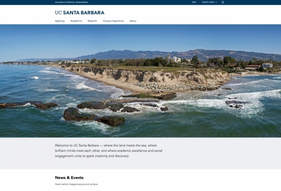 The new UCSB homepage