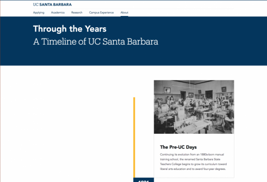 Timeline page at UCSB.edu