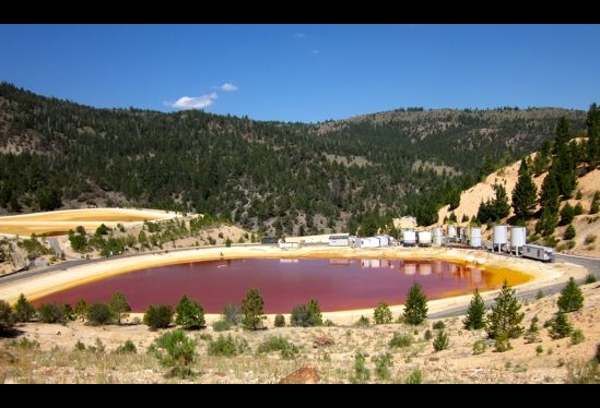 Pollution at Leviathan Mine pond