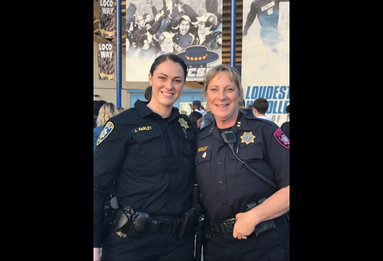 UCSB's Cathy Farley with daughter Jessica Farley, UCI Police Department