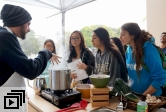 UCSB Soup Guy Mickael Blancho gives a demo