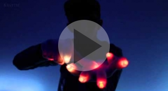 a demonstration of gloving